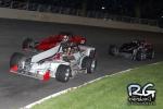 Dave Gruel leads at Oswego Speedway