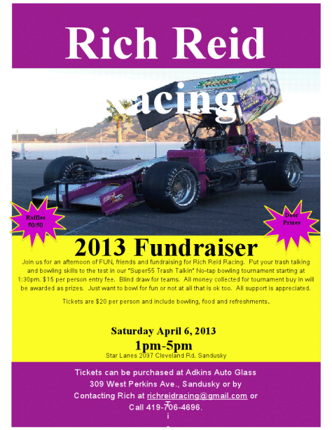 rich reid fundraiser graphic