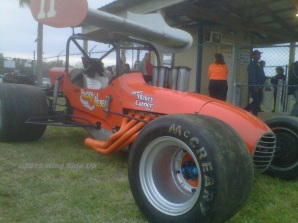 Fans were greeted at the front gate of Pensacola Speedway by this former Mickey Carrier owned Ronald Ellsworth supermodified