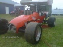 Mickey Carrier owned this supermodified driven by Ronald Ellsworth.