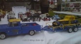 Scratch built models depicting the cars that raced in the early years of southern supermodified racing