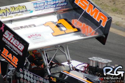 Chris Perley Wing Side Up shot from Sfafford Motor Speedway 2011