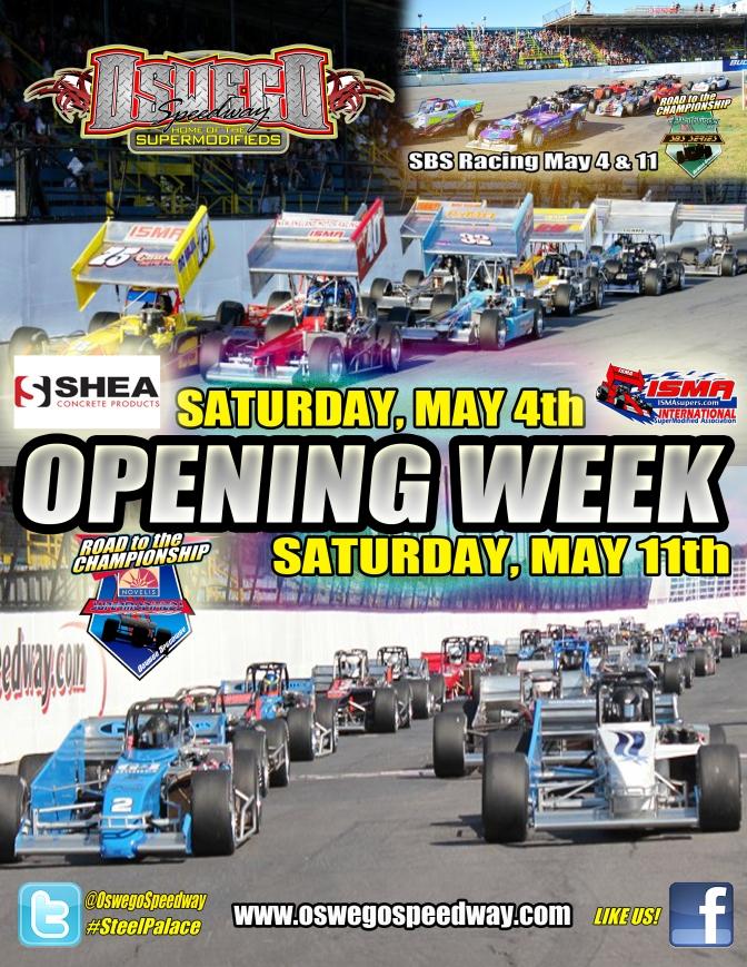 Oswego Speedway Opening Week Poster