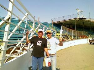 Jim Pasquin and Bobby G. at Oswego Speedway Spruce Up Day 2010