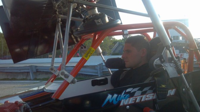 Mike Netishen waits in supermodified