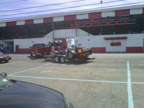 Hal Latulip pulls into Oswego Speedway for 2012  Kickoff weekend. (Photo by B&G Racing Photos)