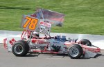 Mark Sammut at speed during ISMA show at Oswego Speedway