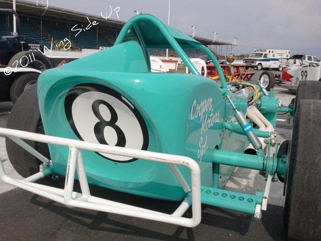 Restored Jim Shampine 8 Ball supermodfiied at Oswego Speedway