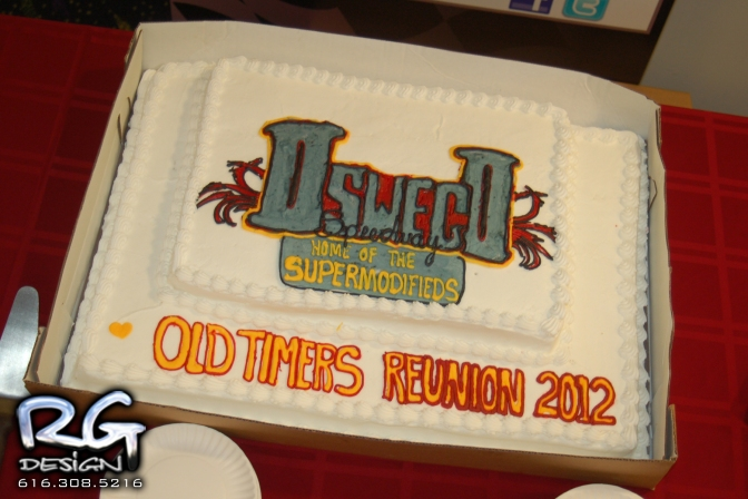 2012 Oswego Speedway Old Timers Reunion cake
