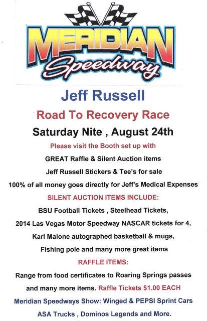 Jeff Russell road to recovery benefit poster
