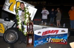 Jon McKennedy in Star Speedway Victory Lane after #StarClassic win Photo by Jim Feeney