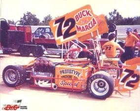 Jim Shirey car in pits at Kalamazoo Speedway