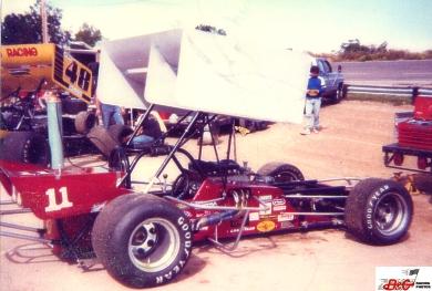 Brian Herb supermodified at Kalamazoo Speedway