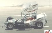 Ernie Nash enters turn one at Kalamazoo Speedway