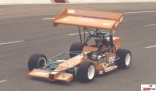 Kenny Bell in his supermodified at Kalamazoo Speedway