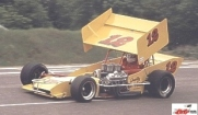 Johnny Toresse Practices his supermodified at Kalamazoo Speedway