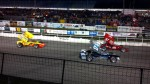 winged supermodifieds lined up at oswego speedway