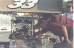 Jennifer Chesbro and crew at Berlin Raceway 2001 ISMA heat win