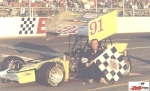Ray Graham in supermodified victory lane at Berlin Raceway