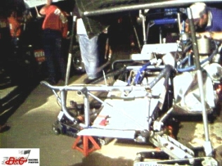 Joey Payne's crashed supermodified