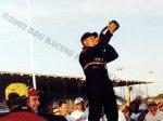Joe Gosek celebrates his 2002 International Classic win
