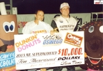 Mike Ordway in Oswego Speedway victory lane after winning 2003 Mr Supermodified