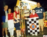 Russ Wood with family at Sandusky Speedway Hy-Miler Supermodified Nationals