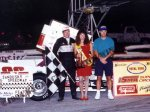 Mike Ordway in Sandusky Speedway victory lane
