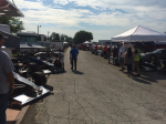A pit full of supermodifieds at ISMA Friday Night Fast 40. Photo by NEORacingNews.com