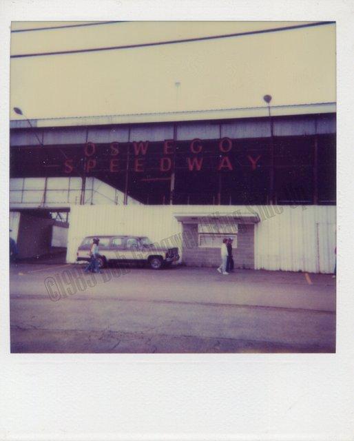 Oswego Speedway neon sign in 1985