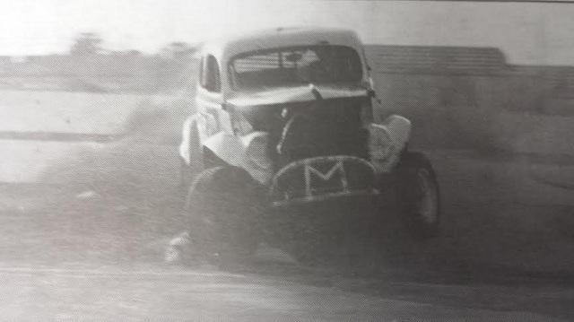 Jack Murphy spins at Oswego Speedway after winning first International Classic