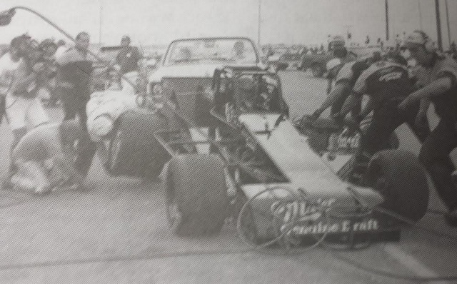 Eddie Bellinger Jr makes a pit stop at Oswego Speedway during 1993 International Classic