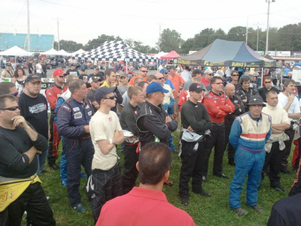 Drivers meeting 2011 Oswego Speedway International Classic 200