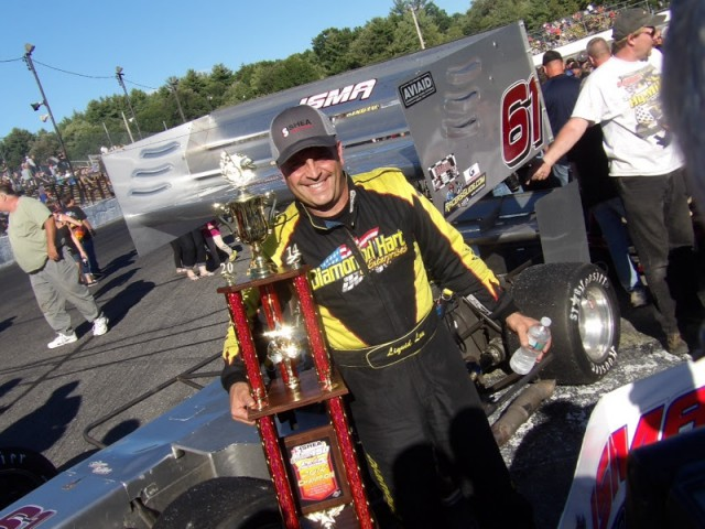 Lou Cicconi is all smiles after ISMA Star Speedway Classic Win