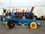 Otto Sitterly is looking for his seventh Oswego Speedway Championship. He poses here with his Nicotra Racing Team. (Pix by Wing Side Up).