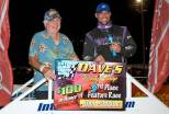 Mark Letcher and Rob Summers after ISMA feature at Oswego Speedway