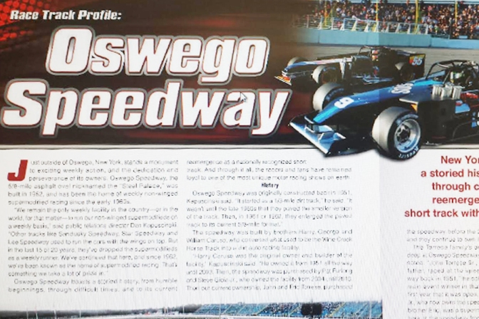 Performance Racing Industry Magazine article features Oswego Speedway