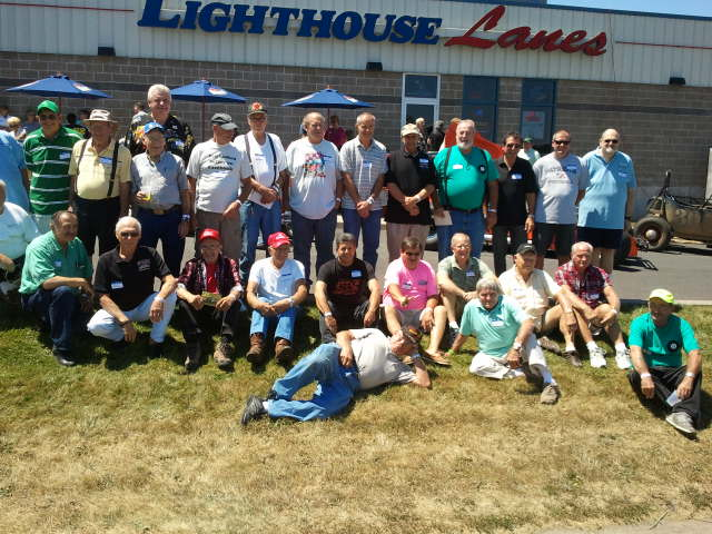 Oswego Speedway Old Timers reunion attendees