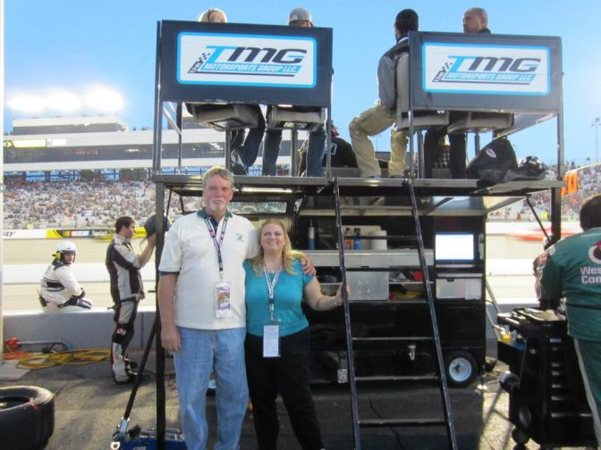 Michael and Annamarie Strawhand at a NASCAR race