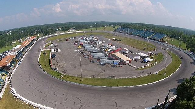 Shawn Cathcart drone photo of Oswego Speedway