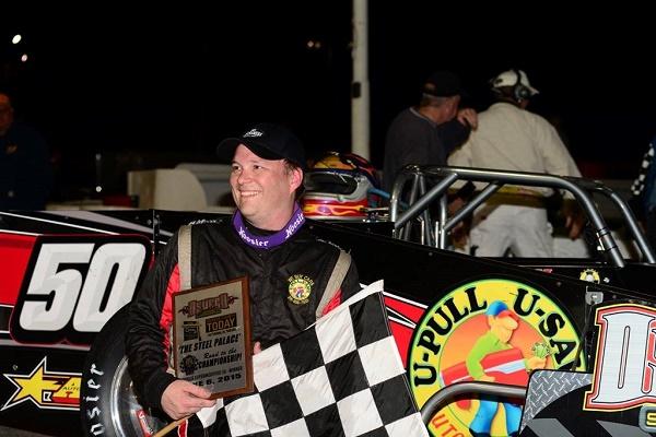 Dave Gruel in Oswego Speedway victory lane