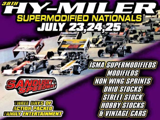 38th Annual Hy-Miler Supermodified Nationals poster