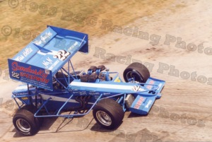 Doug Saunier at Sandusky Speedway 1993 ISMA Hy-Miler Supermodified Nationals