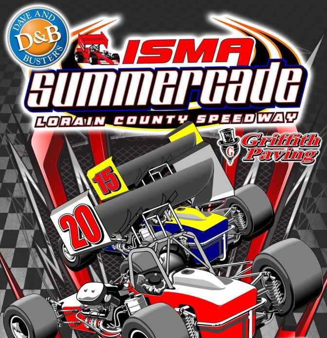 lorain county speedway isma summercade poster