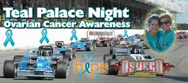 Oswego Speedway Ovararian Cancer Awareness graphic