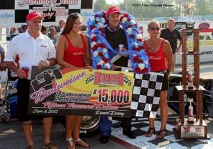 Bob Bond celebrates his third International Classic 200 win