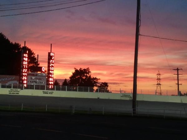 sunset over oswego speedway